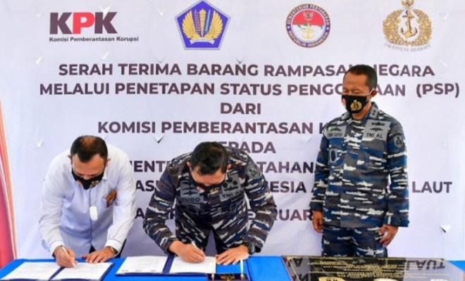 TNI AL Terima Tanah Rampasan Kasus Korupsi Senilai 55 Miliar dari KPK