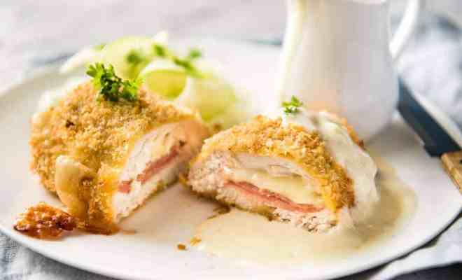Resep Chicken Cordon Bleu dengan Mushroom Sauce