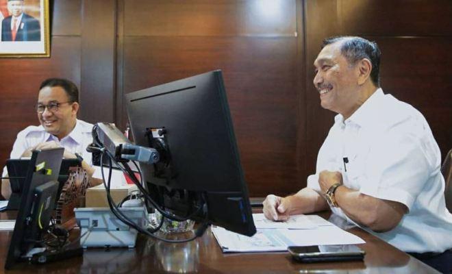 Anies Sambangi Luhut, Tuntut Sinergi Pemerintah Pusat dan DKI Jakarta dalam Tiga Hal Utama