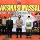 Kapolri Tinjau Vaksinasi Tokoh Lintas Agama di Jawa Tengah