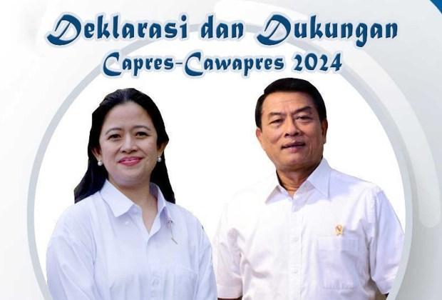 Beredar Foto Moeldoko-Puan Siap Deklarasi Capres-Cawapres 2024 di Surabaya
