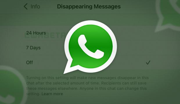 WhatsApp Kembangkan Fitur Pesan Hilang Otomatis dalam 24 Jam