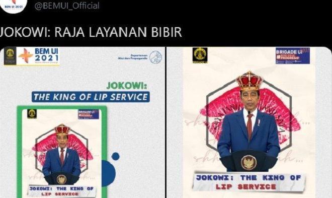 Sebar Meme 'Jokowi Raja Membual', BEM UI Dipanggil Pihak Rektorat
