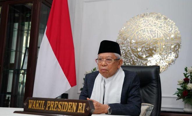 Ma'ruf Amin Sebut Covid Dipakai untuk Bangun Ketidakpercayaan ke Pemerintah
