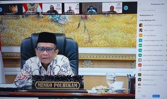 Dialog dengan Rektor se-Indonesia, Mahfud MD: Kita Tak Pernah Anggap Mahasiswa Kritis Musuh Pemerintah