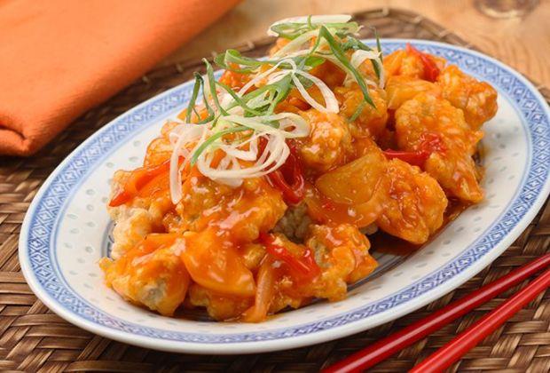 Resep Ayam Kuluyuk, Ayam Goreng Tepung dengan Saus Asam Manis