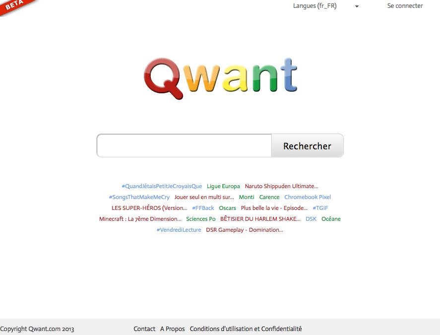 Qwant : le moteur de recherche français