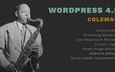 WordPress Coleman : une mise à jour jazzy