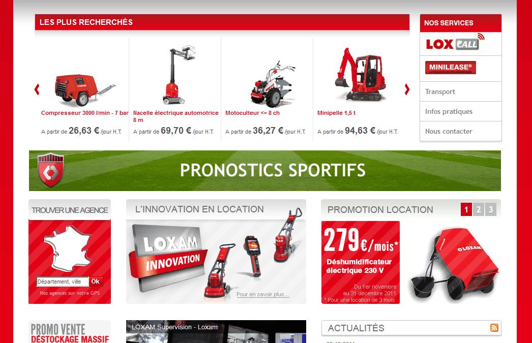 Nouveau site Web pour LOXAM !