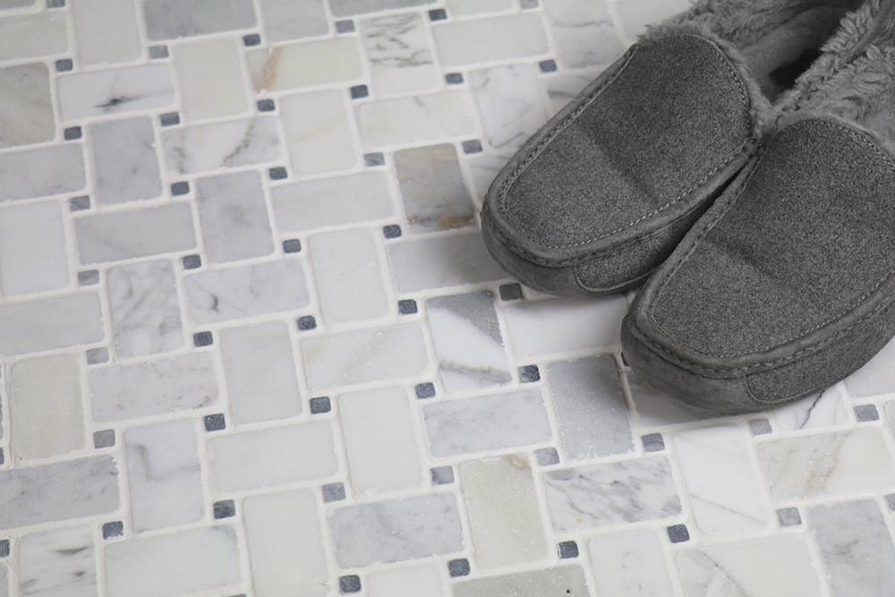 antique carrara marble tile