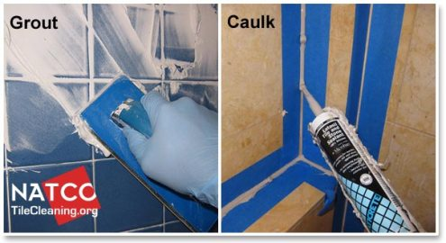 Where Should Grout and Caulk be Installed in a Tile Shower grout vs caulk in shower
