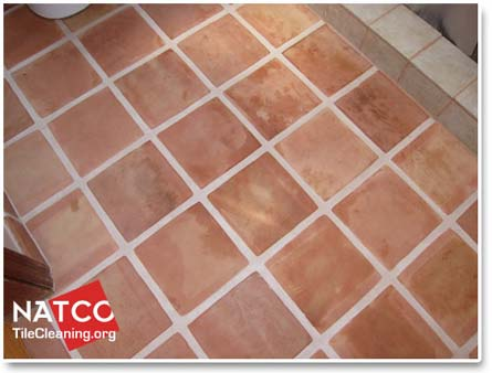 how to clean a saltillo tile floor