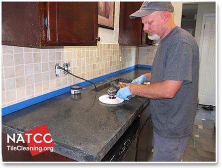 Marvelous How To Polish Seal And Re A Concrete Countertop