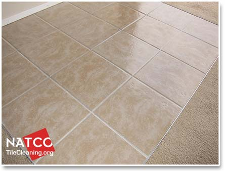 sealing ceramic tiles with a high gloss