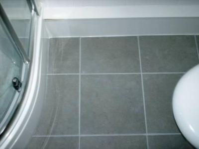 Tile Doctor Grout Colourant   Tile Cleaners   Tile Cleaning Grout Colour restored on a Ceramic Tiled Bathroom Floor by the Tile Doctor