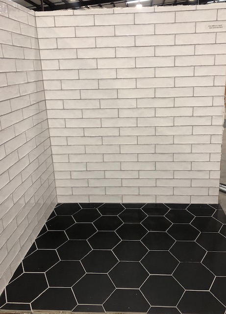 subway tile and flooring tile