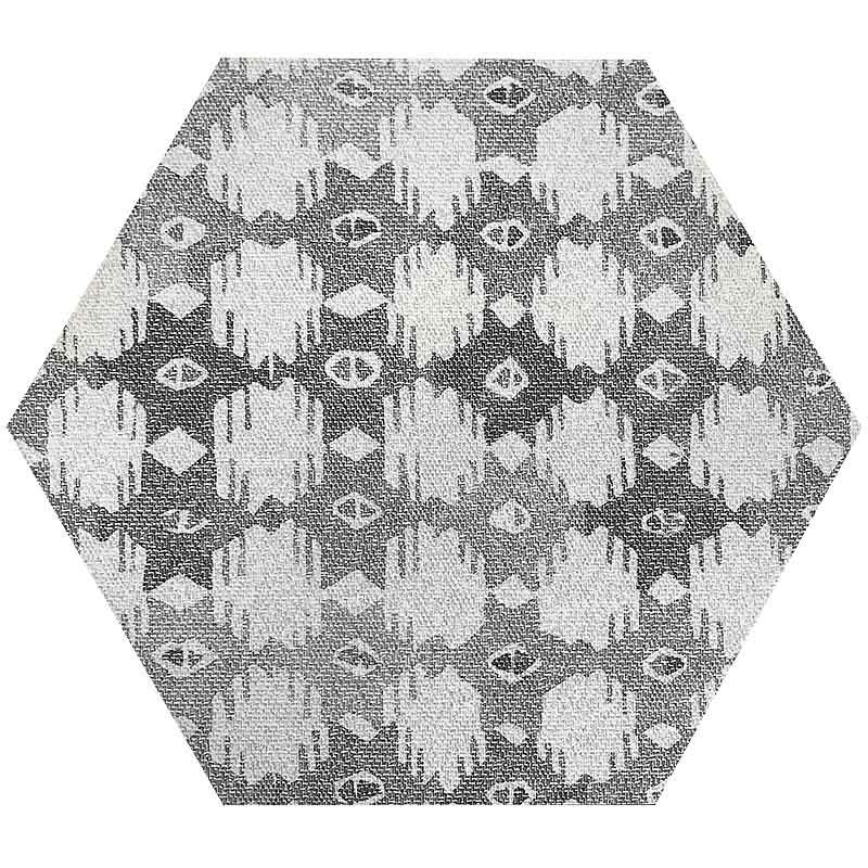 Mir Movement Grey Hexagon Deco Subway Wall Tile