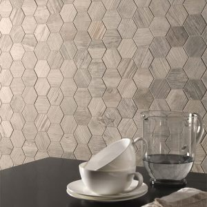 Oregon Rustic Bianco Hexagon Mosaic