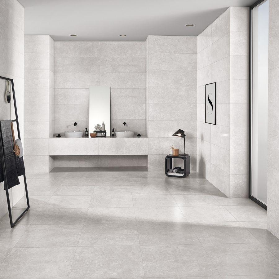 shine light grey wall tile