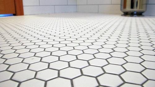 lau 1 x1 white hexagon mosaic tile