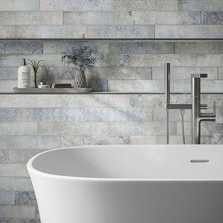 Florence Blue 75x385 Tile Giant