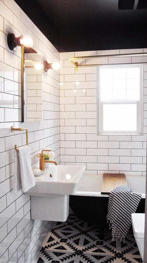 34 bathrooms with white subway tile ideas and pictures on Bathroom Ideas Subway Tile  id=66328