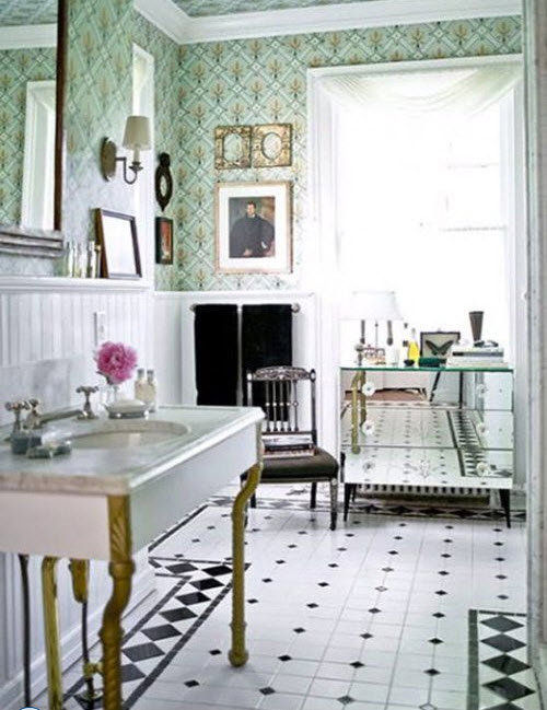 25 Classic Black And White Bathroom Tile Ideas And