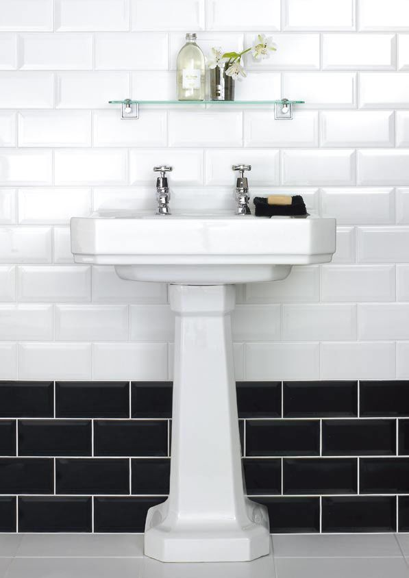 22 White Bathroom Tiles With Border Ideas And Pictures