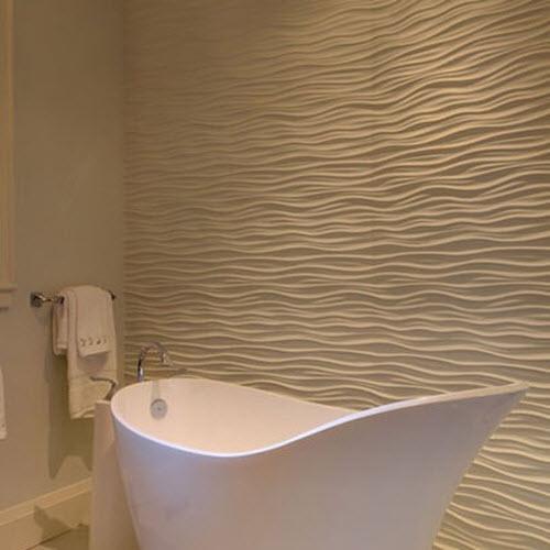 20 white ripple bathroom tiles ideas