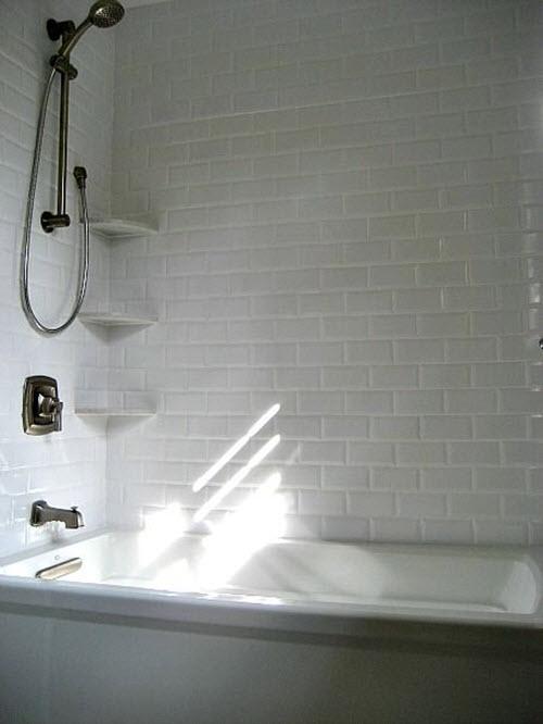 29 white subway tile tub surround ideas