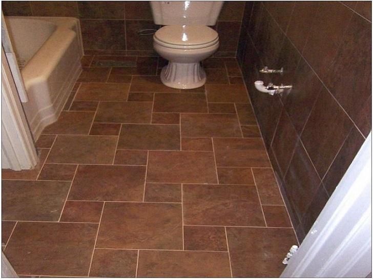 37 chocolate brown bathroom floor tiles