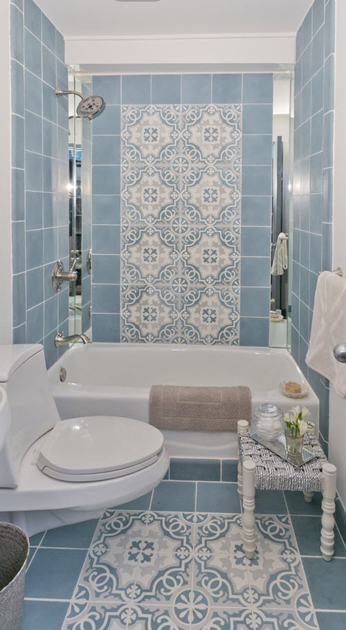 blue bathroom tiles ideas and pictures 2021