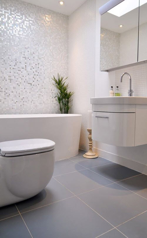 37 light grey bathroom floor tiles ideas and pictures 2020