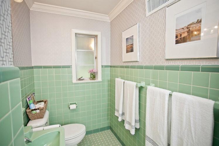 40 mint green bathroom tile ideas and