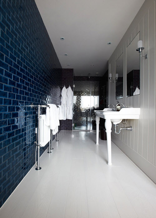 40 Navy Blue Bathroom Tiles Ideas And Pictures