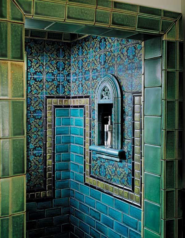 39 blue green bathroom tile ideas and