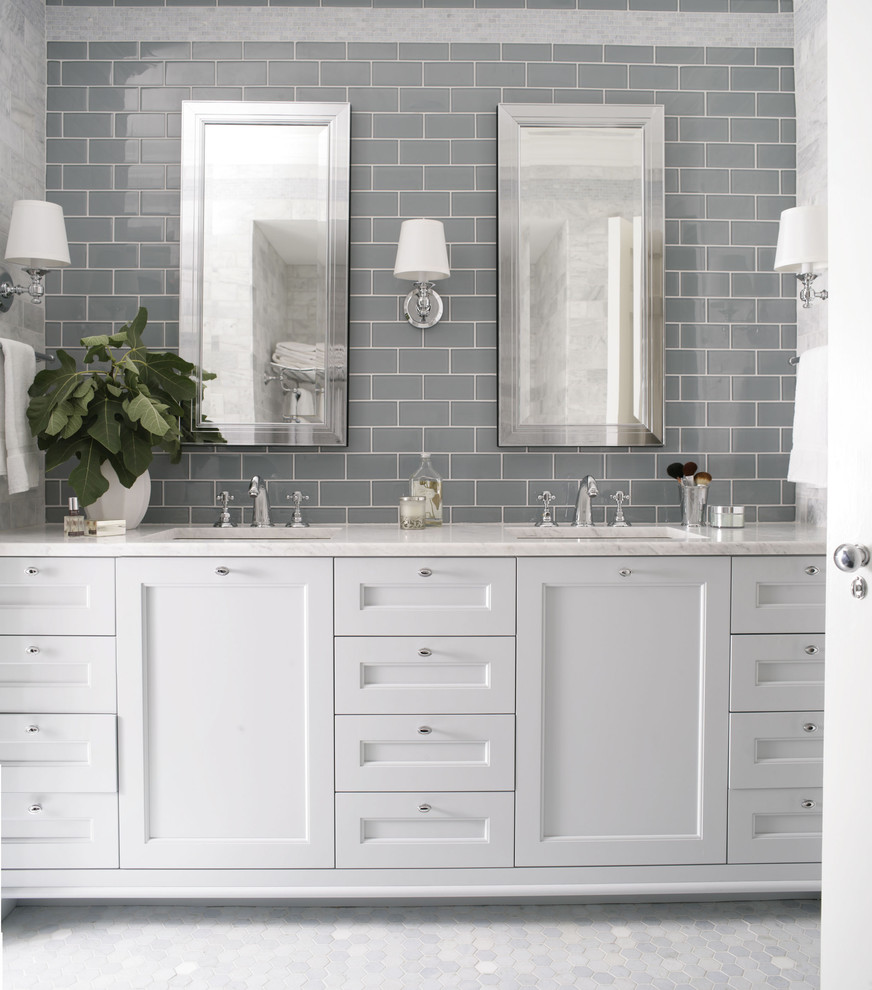 26 amazing pictures of traditional bathroom tile design ... on Bathroom Ideas Subway Tile  id=41733