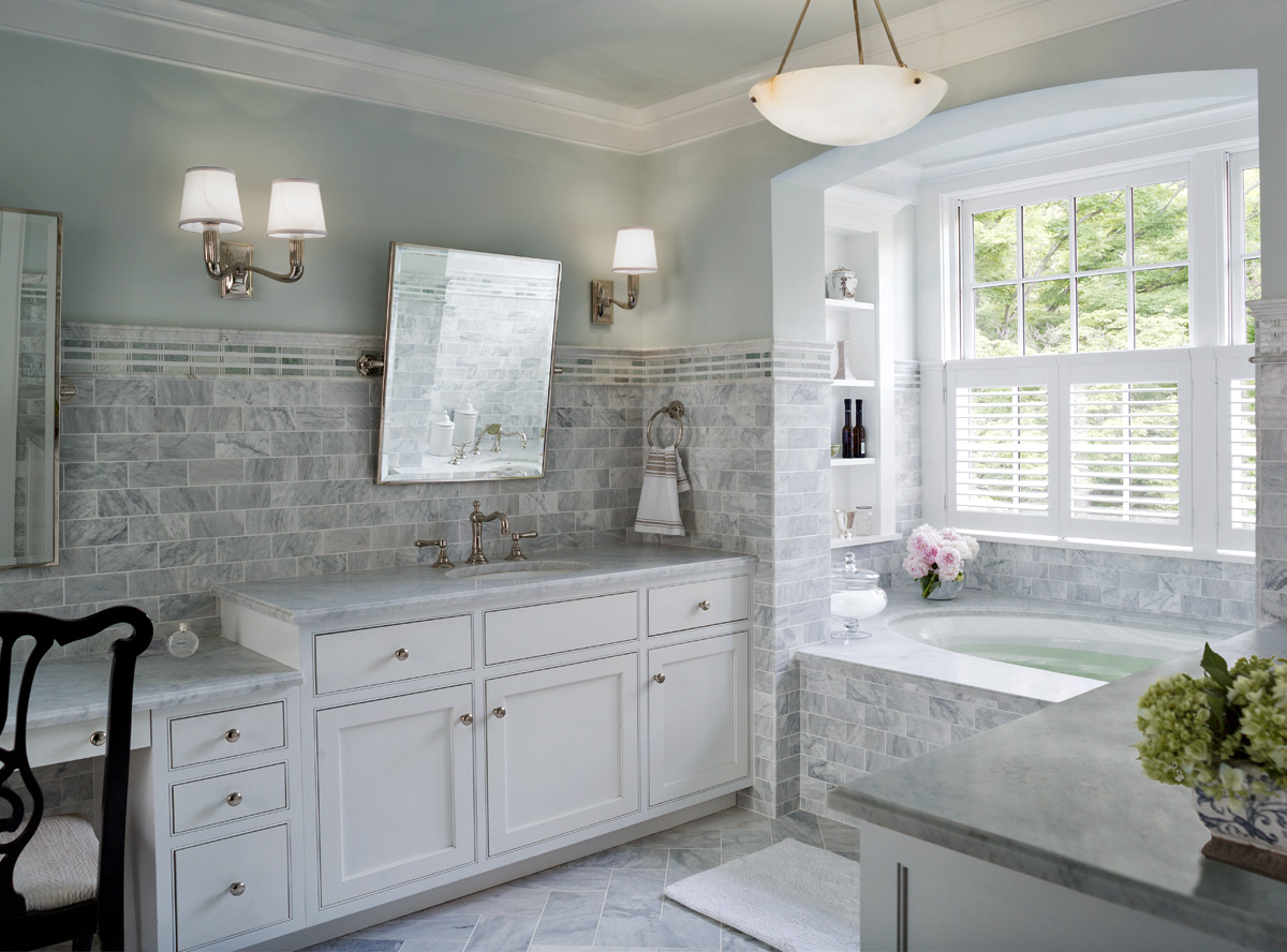 30 cool ideas and pictures of farmhouse bathroom tile on Farmhouse Tile Bathroom Floor  id=88682