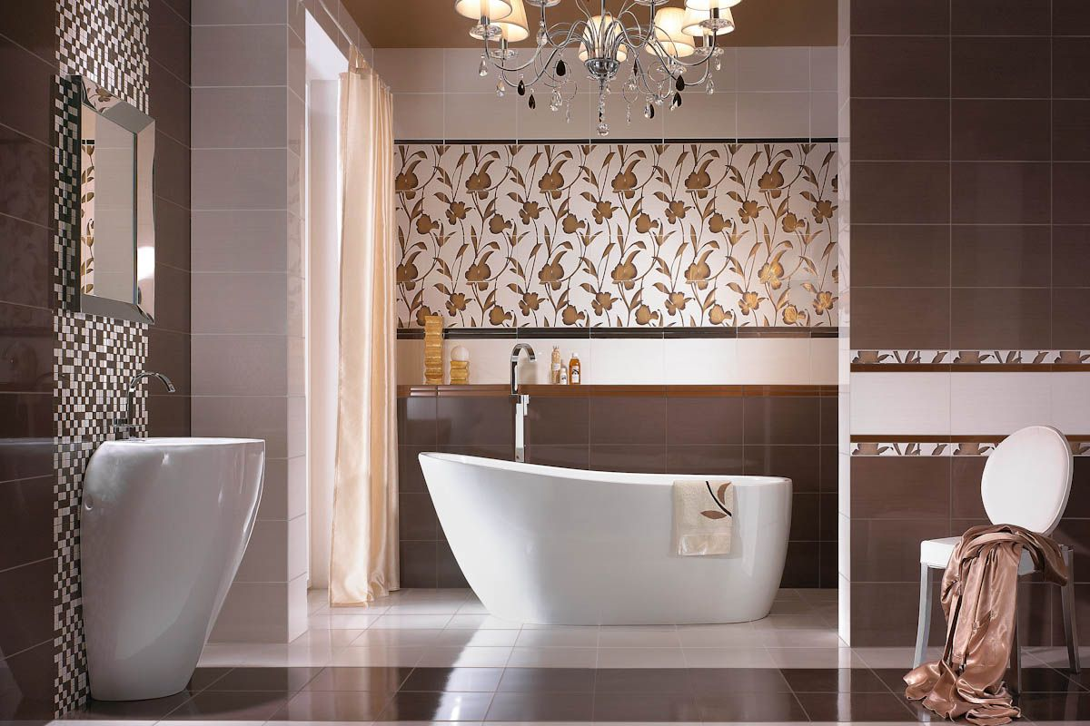 30 cool pictures and ideas of digital wall tiles for bathroom on Floral Tile Bathroom Ideas  id=38628