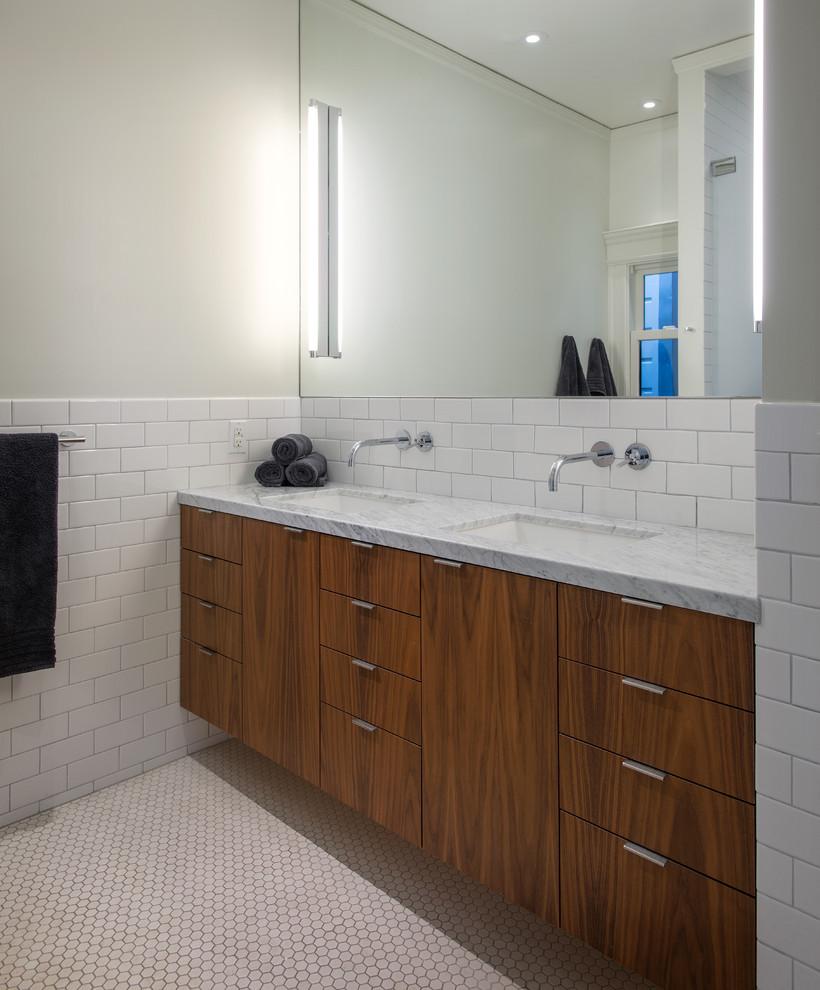 30 good ideas and pictures classic bathroom floor tile ... on Bathroom Ideas Subway Tile  id=22404