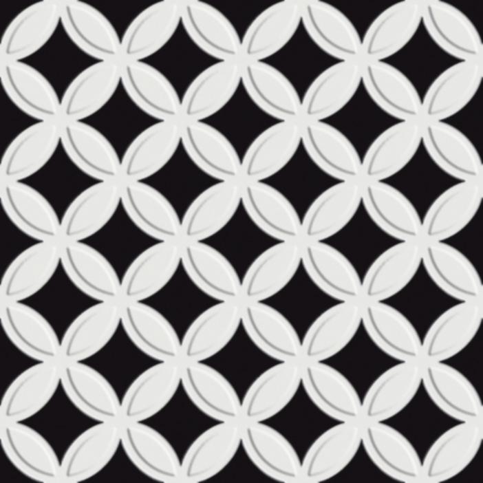 eco d antan noir blanc etoile 20x20