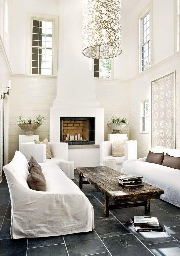 slate tiles living room - Slate Floors In Living Room