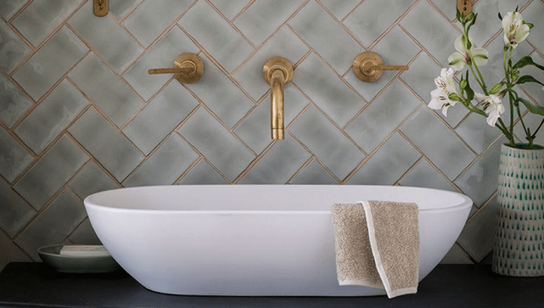 add a bit of sparkle with glitter grout
