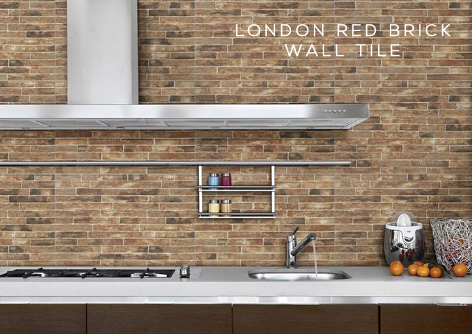 London red brick wall tile from Tile Mountain