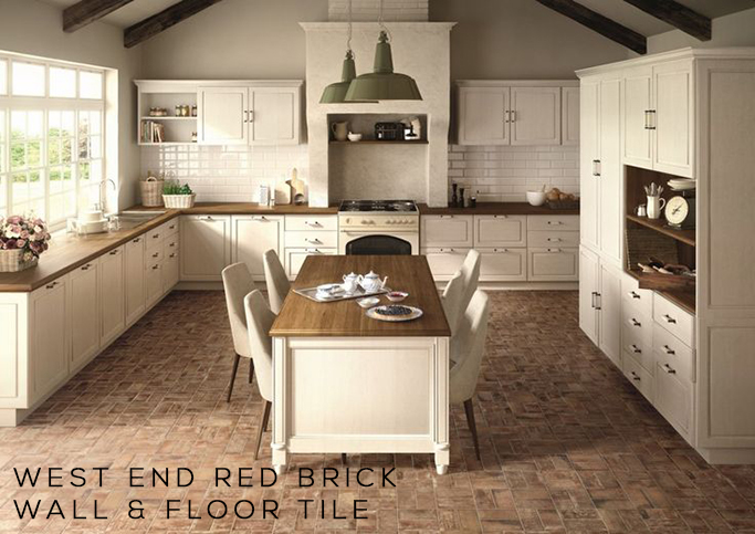 Farmhouse Brick Flooring Tile : Brick tiles exposed without the mess tile mountain