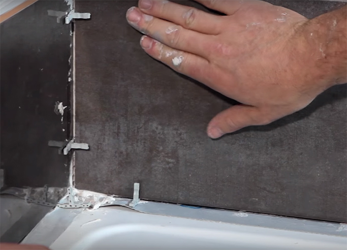 How to Tile a Shower Cubicle Step 4