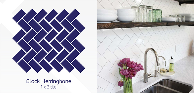 Block Herringbone Tile pattern example