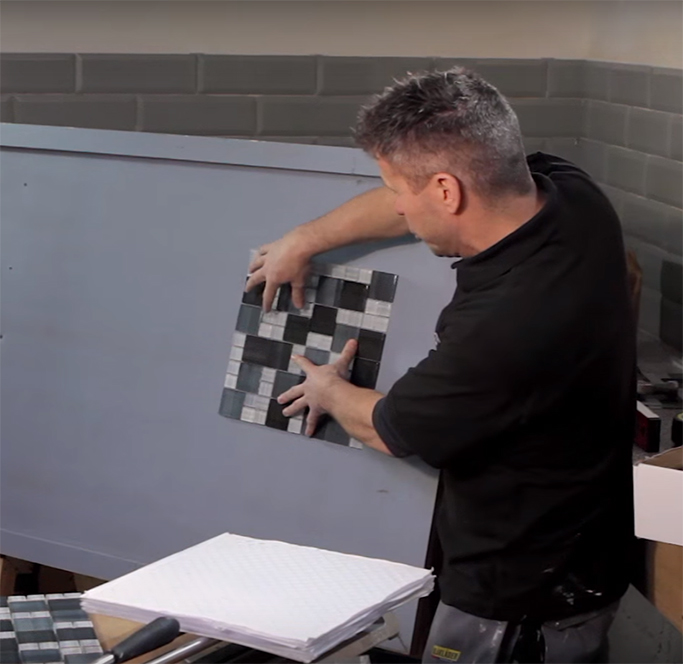 How to Cut Lay and Install Mosaic Tiles using Backer Sheets 1