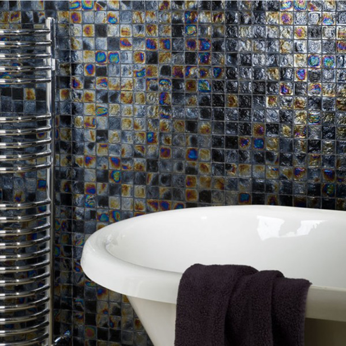 iridescent bathroom tiles the best glass mosaic iridescent tiles tile mountain 13276
