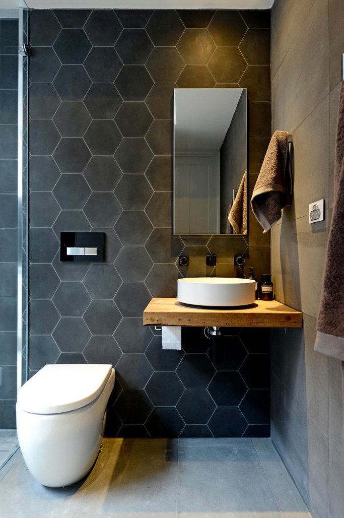 black-hex-tiles-in-bathroom-tile-trends